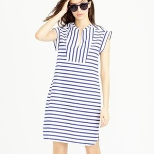J CREW Striped Tuxedo Shift Cotton Dress